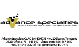 Advance Specialities logo con direccion
